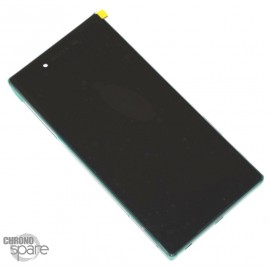 Ecran LCD + Vitre Tacile + Chassis Argent Sony Xperia Z5 Premium Dual E6883 (officiel) 1299-0683