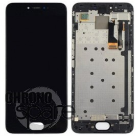 Ecran LCD + Vitre tactile noire + frame Meizu Pro 6