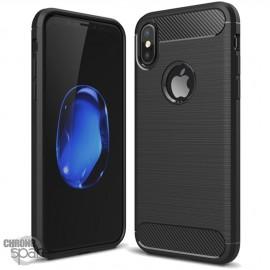 Coque souple carbone iphone X - Noir