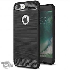 Coque souple carbone iphone 7/8 plus - Noir