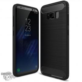 Coque souple carbone Samsung S8 plus - Noir