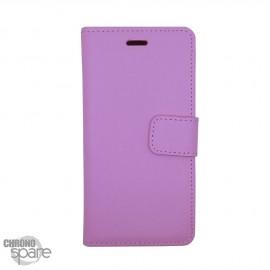 Etui simili-cuir Rose PU à rabat horizontal iPhone 6/6S Plus