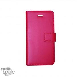 Etui simili-cuir Rouge PU à rabat latéral Sony Xperia Z5 Compact