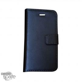 Etui simili-cuir Noir PU à rabat latéral Huawei P8 Lite