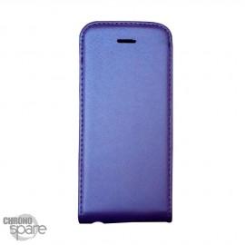 Etui simili-cuir Violet PU à rabat vertical iPhone 5C