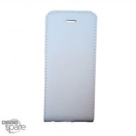 Etui simili-cuir Blanc PU à rabat vertical iPhone 6 Plus et 6S +