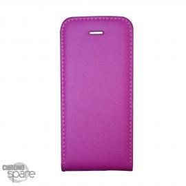 Etui simili-cuir Fuchsia PU à rabat vertical iPhone 4/4S