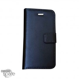Etui simili-cuir Noir PU à rabat horizontal Sony Xperia M2 Aqua