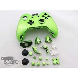 Coque complète avec boutons manette Xbox One - Vert