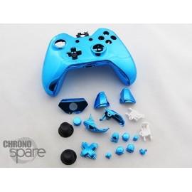 Coque complète avec boutons manette Xbox One - Bleu