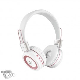 Casque Audio Bluetooth / Radio FM - Blanc 210B