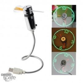 Ventilateur USB - Horloge