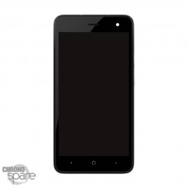 Ecran LCD et Vitre Tactile Noir Wiko Jerry 2