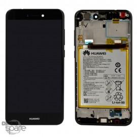 Bloc écran LCD + vitre tactile + batterie Huawei P8 Lite 2017 Noir (officiel)