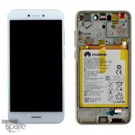 Bloc écran LCD + vitre tactile + batterie Huawei P8 Lite 2017 Blanc (officiel)