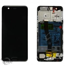 Bloc écran LCD + vitre tactile + batterie Huawei P10 Noir (officiel)