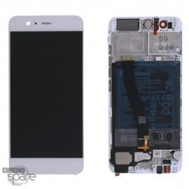 Bloc écran LCD + vitre tactile + batterie Huawei P10 Blanc (officiel)