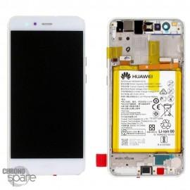 Bloc écran LCD + vitre tactile + batterie Huawei P10 Lite Blanc (officiel)
