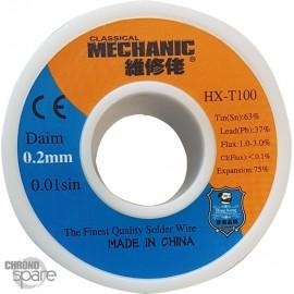Etain fin bobine 0.2 mm 50g
