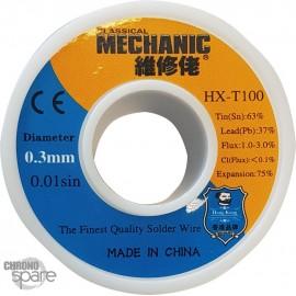Etain fin bobine 0.3 mm 100g