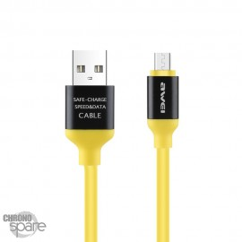 Câble PePs Micro USB - Jaune