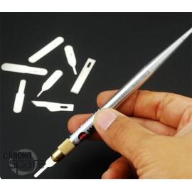 Kit scalpel + 12 lames souples et rigides