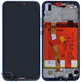 Bloc écran LCD + vitre tactile + batterie Huawei P20 Lite Bleu (officiel)