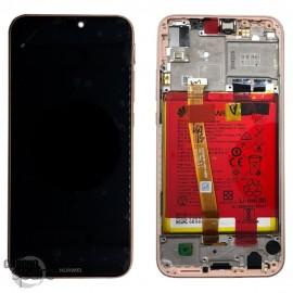 Bloc écran LCD + vitre tactile + batterie Huawei P20 Lite Rose (officiel)
