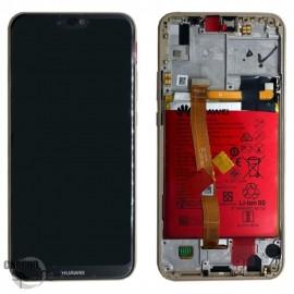 Bloc écran LCD + vitre tactile + batterie Huawei P20 Lite Or (officiel)
