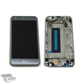 Bloc écran LCD et Vitre Tactile argent LG X cam (Officiel)