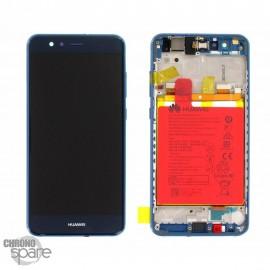 Bloc écran LCD + vitre tactile + batterie Huawei P10 Lite Bleu (officiel)