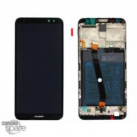 Bloc écran LCD + vitre tactile + batterie Huawei Mate 10 Lite Noir (officiel)