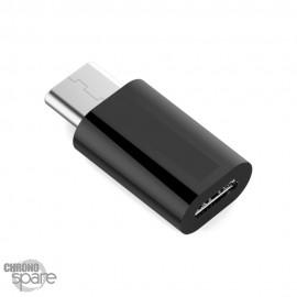 Adaptateur Micro Usb vers Type-C Noir