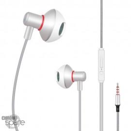 Écouteurs Qihang E05 avec micro - Blanc
