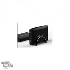 Boitier externe disque dur 3,5 pouces USB3.0 SATA aluminium pour Windows 98/ME/ 2000/ XP/ Vista/ Win7. Noir