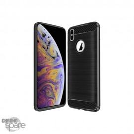 Coque souple carbone iphone XR - Noir