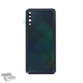 Vitre arrière Noire avec lentille caméra Samsung Galaxy A70 (A705F)