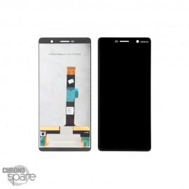 Ecran LCD + vitre tactile Nokia noire 7 plus