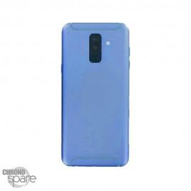 Vitre arrière +vitre caméra Bleue Samsung Galaxy A6 Plus 2018 A605F