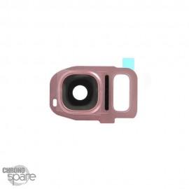 Lentille Caméra avec châssis Rose Samsung Galaxy S7/S7 edge