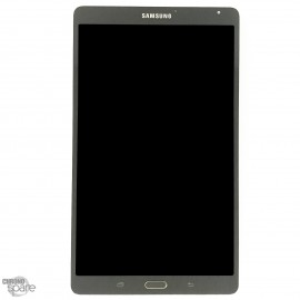 Vitre Tactile + Ecran LCD Samsung Tab S 8.4 (T700) Gris (officiel)