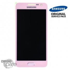 Ecran LCD + Vitre tactile Rose Samsung Galaxy A3 A300F (officiel) GH97-16747E