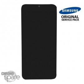 Ecran LCD + Vitre Tactile + châssis noir Samsung Galaxy A30s A307F (officiel)