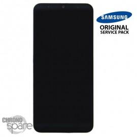 Ecran LCD + Vitre Tactile + châssis noir Samsung Galaxy A50 A505F (officiel)