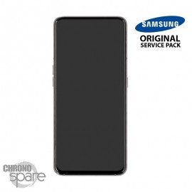 Ecran LCD + Vitre Tactile + châssis noir Samsung Galaxy A70 A705F (officiel)