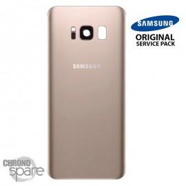 Vitre arrière+vitre caméra OR (officiel) Samsung Galaxy S8 + G955F