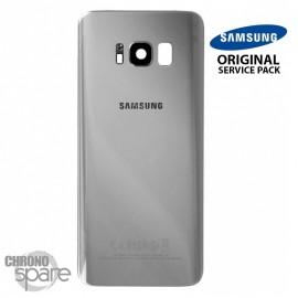 Vitre arrière+vitre caméra Argent Polaire (officiel) Samsung Galaxy S8 + G955F