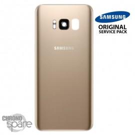 Vitre arrière+vitre caméra Or (officiel) Samsung Galaxy S8 G950F
