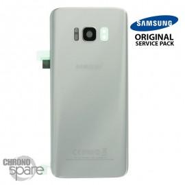 Vitre arrière+vitre caméra Argent Polaire (officiel) Samsung Galaxy S8 G950F