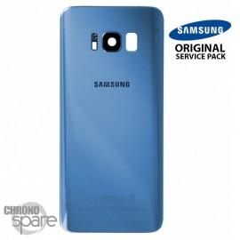 Vitre arrière+vitre caméra Bleu corail (officiel) Samsung Galaxy S8 G950F